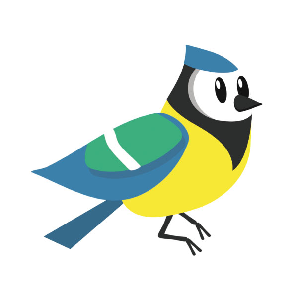Ah, the beautiful blue tit...in fourth place
