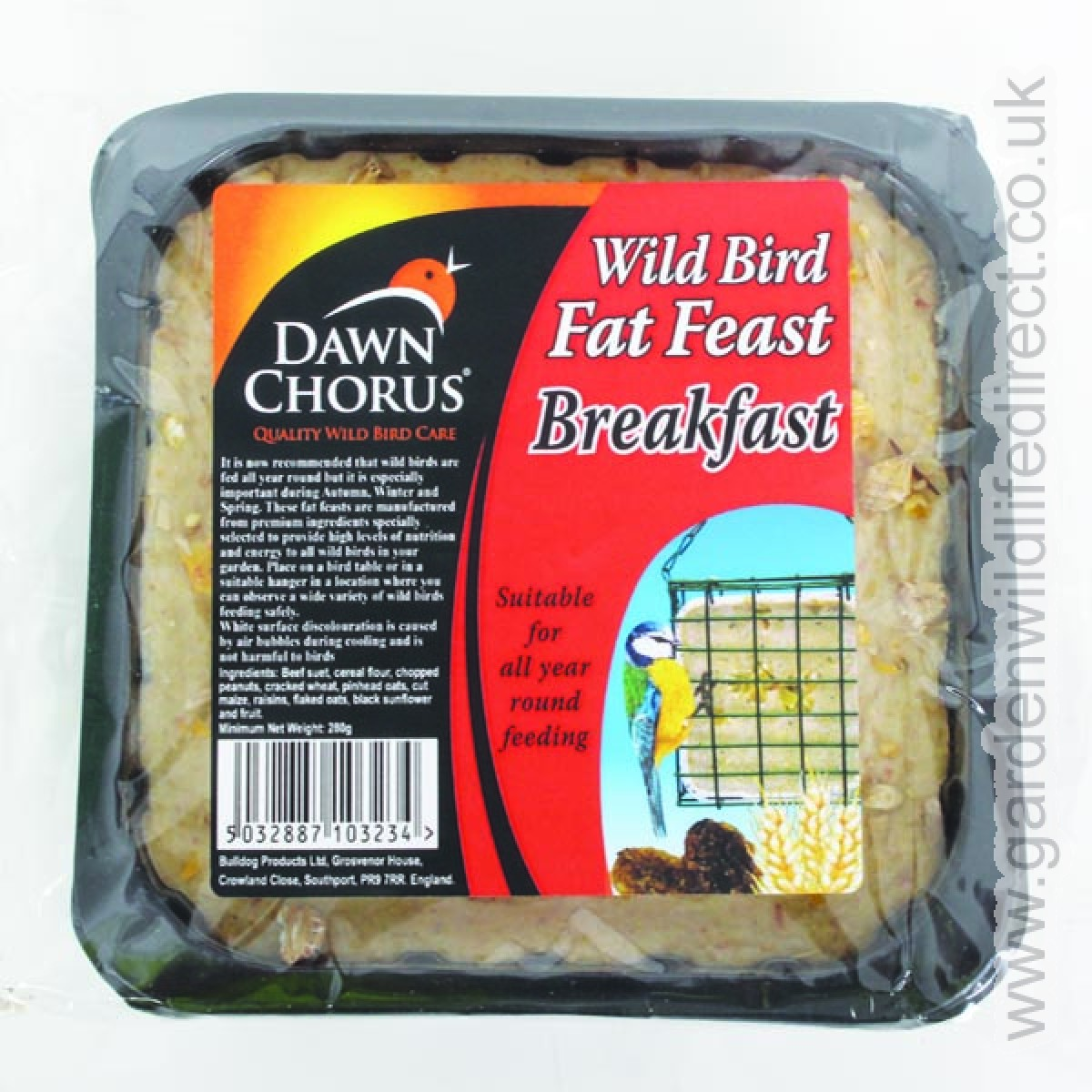 Suet blocks are a common treat for birds