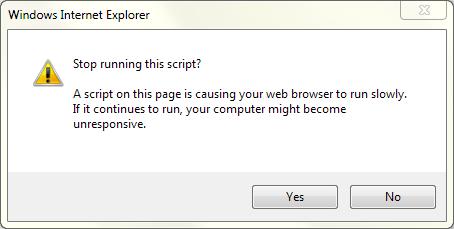 How to resolve the long running script error