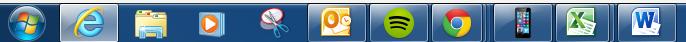 Icon bar at bottom of screen