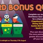 The Bird Bonus Quiz