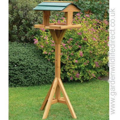 Garden Wildlife Direct Kingfisher Wooden Bird Table